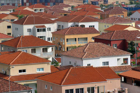 Top view of a district of villas in Pointe-Noire, Congo Republic, february 2015 Editorial