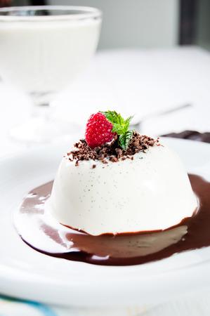 panna: Traditional italian dessert panna cotta Stock Photo