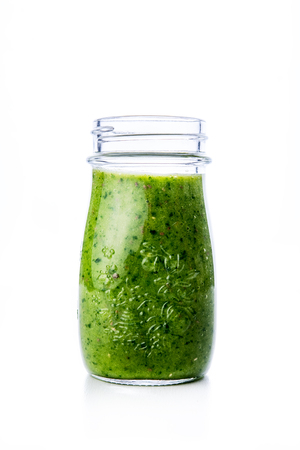 Green spinach and pineapple smoothie