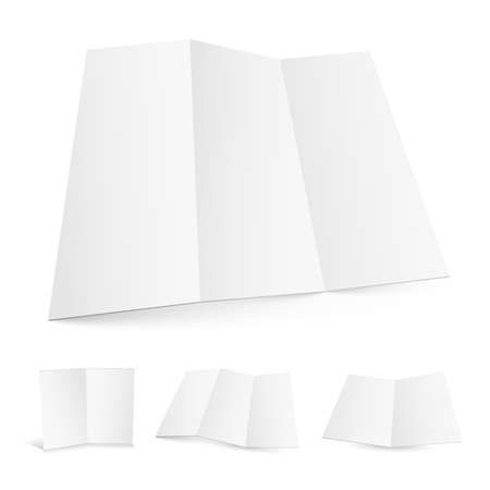 Blank white zigzag folded paper set Vector