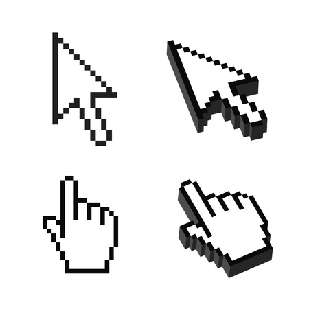 two dimensional shape: Two or Three dimensional Shape Cursor set