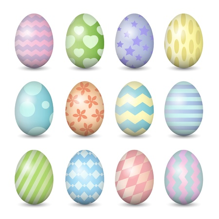 Easter eggs set Vector