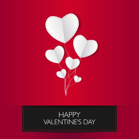 Valentine card with text and heart shape Vector