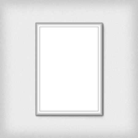 Blank empty white frame photo