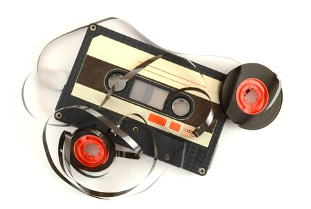Audio cassette and tape composition  photo