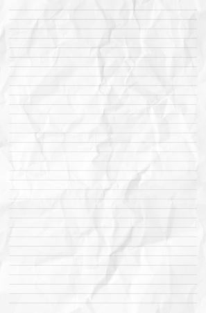 foglio a righe: Carta di texture o di sfondo Handmadecrumpled