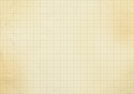 Blank millimeter old graph paper grid sheet background or textured Stock Photo