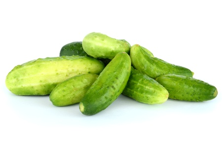 Cucumbers isolated on white. High resolution color image.