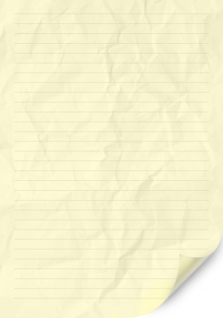 ruled paper: Handmade crumpled paper texture or background. High resolution.