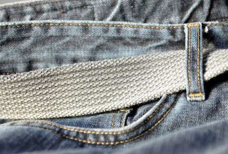 Jeans with belt. High resolution color image. photo