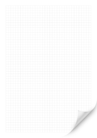 White squared paper sheet background or textured
