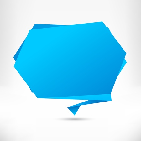 Speech bubble origami style. Vector abstract background.