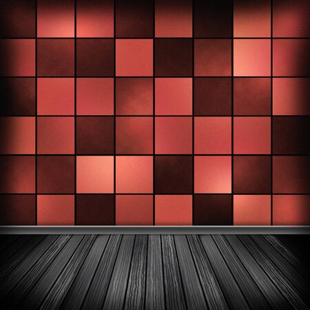 Empty room, inter with wallpaper. High resolution texture background. Stock Photo - 20470559