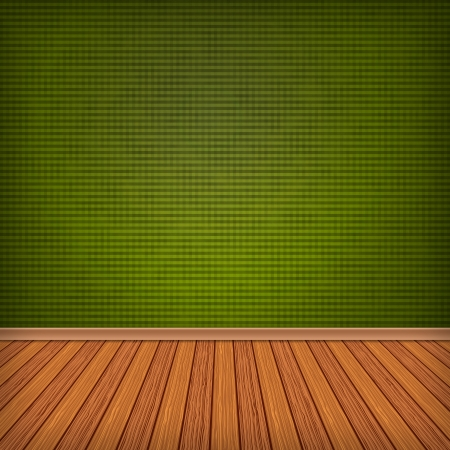 Empty room, interior with green wallpaper. High resolution texture background. photo