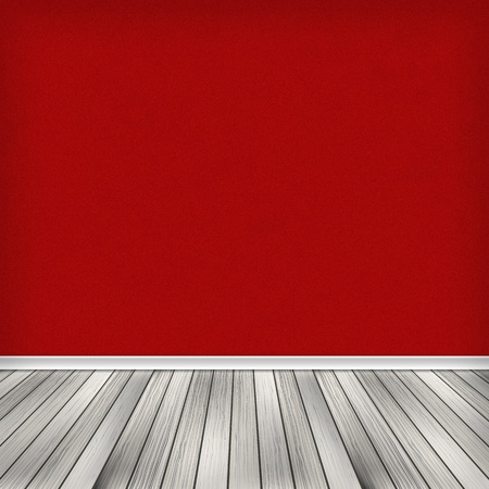 Empty room, interior with red wallpaper. High resolution texture background. Stock Photo - 20470682
