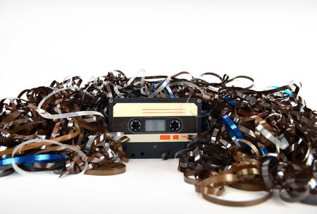 Audio cassette and tape composition. High resolution color image. photo