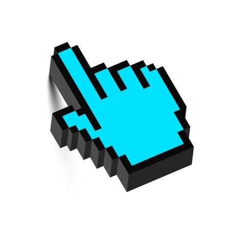 3D mouse hand cursor with shadow  Vector   Vector