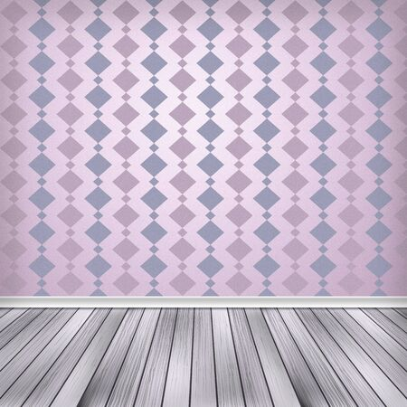 Empty room, interior with wallpaper photo