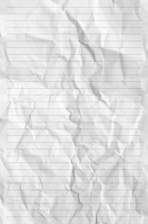 Handmade crumpled paper texture or background