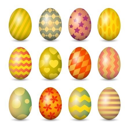 Easter eggs set. Vector