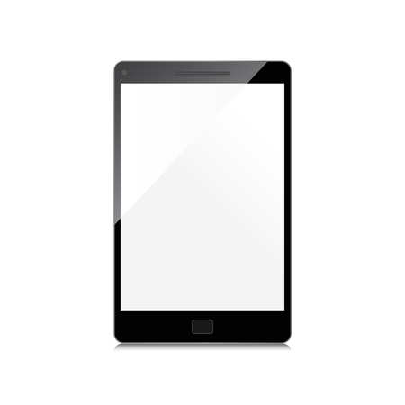 Smartphone With Blank Screen Isolated Vector