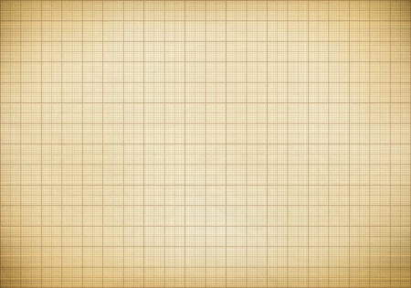 millimeter: Blank millimeter old graph paper grid sheet background or textured Stock Photo