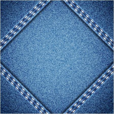 blue jeans: Jeans background. Vector texture. Fabric textile design.