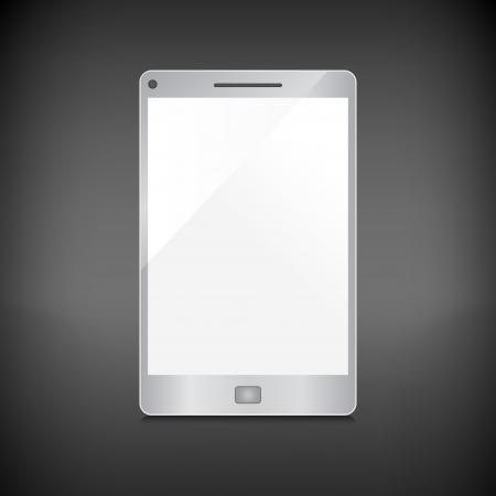 暗い背景に分離された空白の画面と現実的なスマート フォン