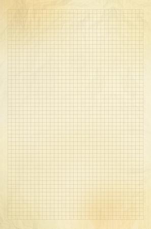 Blank millimetro vecchia carta millimetrata griglia del foglio di sfondo o texture Archivio Fotografico - 25339220