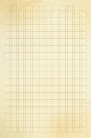 Lege millimeter oud grafiek papier raster achtergrond of structuur Stockfoto