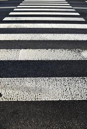 pedestrian crossing. Transportation background texture  Standard-Bild