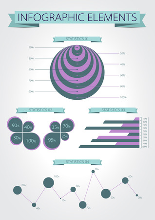 Infographics. Modern statistic infographics elements set. Vector. Vector