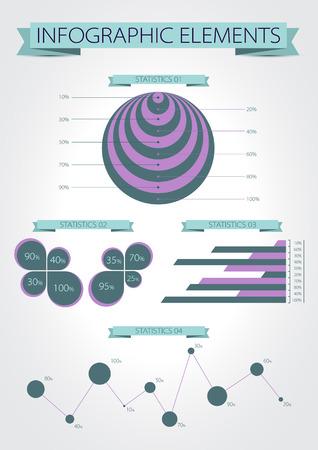 Infographics. Modern statistic infographics elements set. Vector. Vector