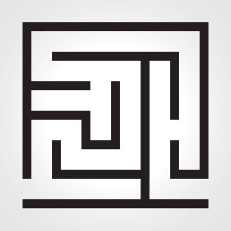 Black labyrinth. Vector illustration. Business concept. eps 10 Vector