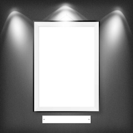 Blank empty white frame Stock Photo