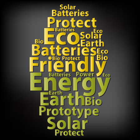 ozone friendly: Text cloud. Eco wordcloud. Typography concept.