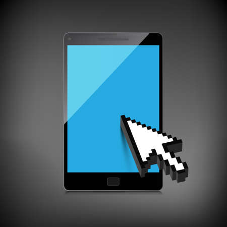 High-quality smartphone screen. Vector