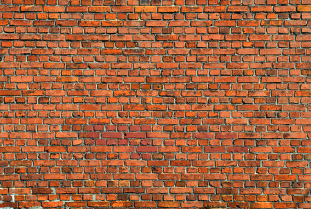 Red brick wall texture background. Square format. photo