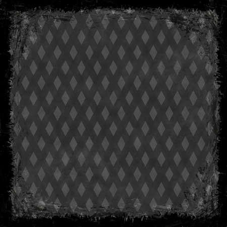Black, dark, gray grunge background. Abstract vintage texture with frame and border. photo