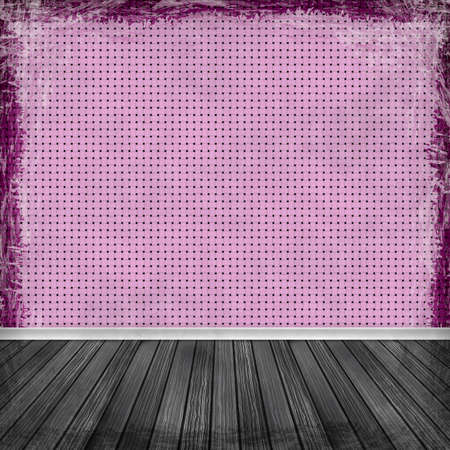 Pink, violet, purple grunge background. Old abstract vintage texture with frame and border. photo
