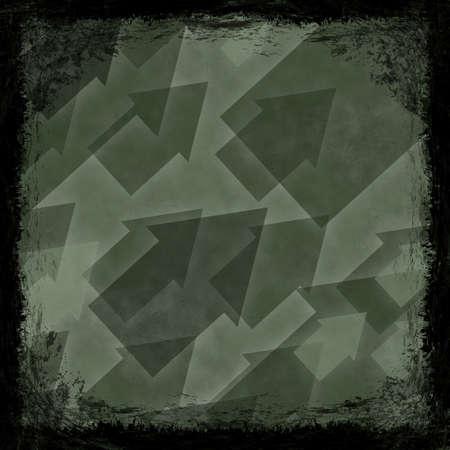 Green grunge background. Old abstract vintage texture with frame and border. photo