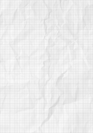 college ruled: Handmade crumpled paper texture or background. High resolution.