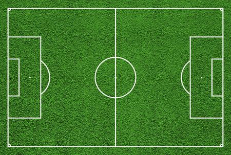 サッカー フィールドまたはフットボール競技場の平面図 写真素材