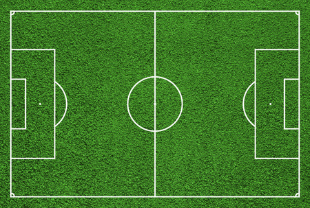 Top view of soccer field or football field photo