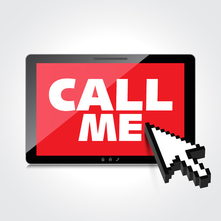 call me: High-quality smartphone screen with the text message Call me.