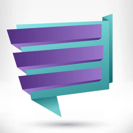 Blank empty origami design element  Banner background Stock Vector - 29001713