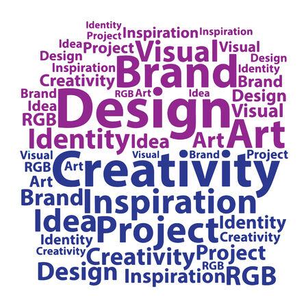 Text cloud. Design wordcloud. Tag concept. Vector illustration. Vector