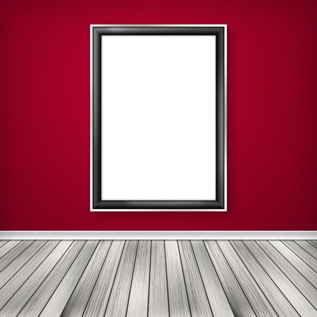 Blank empty white frame photo