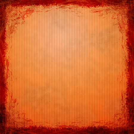 Orange grunge background  Old abstract vintage texture with frame and border