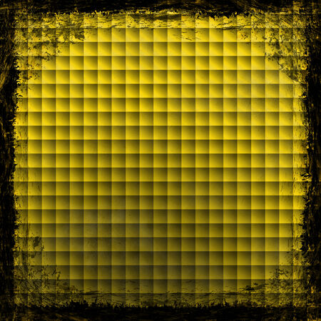 Yellow, Gold, grunge background  Old abstract vintage texture with frame and border  photo